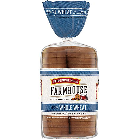 Pepperidge Farm Farmhouse Bread Whole Wheat - 24 Oz