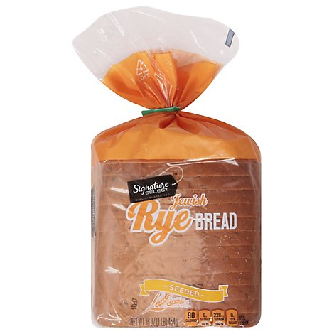 Signature SELECT Real Jewish Rye Bread Seeded - 16 Oz