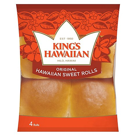 Kings Hawaiian Rolls Hawaiian Sweet 4 Count - 4.4 Oz