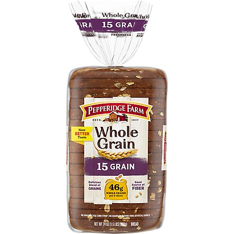 Pepperidge Farm Bread Whole Grain 15 Grain - 24 Oz