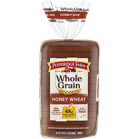 Pepperidge Farm Bread Whole Grain Soft Honey Whole Wheat Bread - 24 Oz