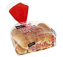 Signature SELECT Buns Hot Dog Enriched 8 Count - 12 Oz