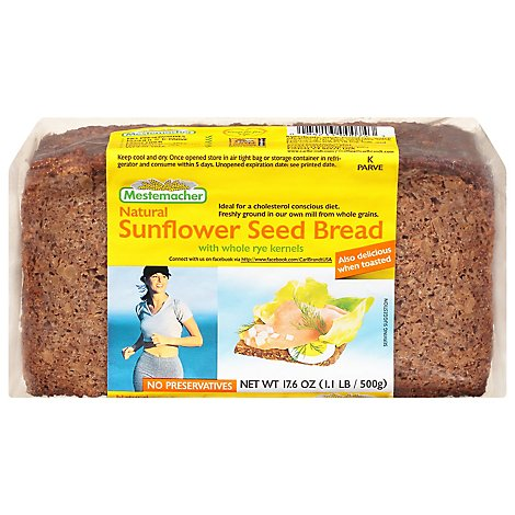 Mestemacher Bread Sunflower Seed - 17.60 Oz