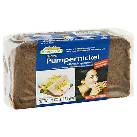 Mestemacher Bread Pumpernickel - 17.60 Oz