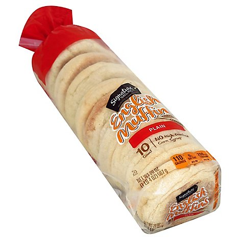 Signature SELECT English Muffins Plain 10 Count - 20 Oz