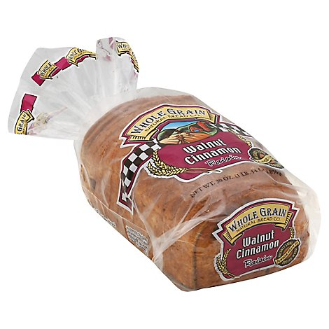Whole Grain Walnut Cinnamon Raisin Bread - 30 Oz