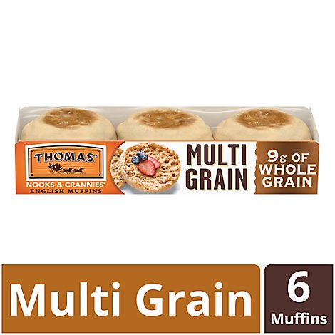 Thomas Hearty Muffins English Muffins Multi Grain - 12 Oz