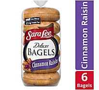 Sara Lee Bagels Deluxe Pre-Sliced Cinnamon Raisin - 6-22 Oz