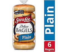 Sara Lee Bagels Deluxe Pre-Sliced Plain - 6-22 Oz