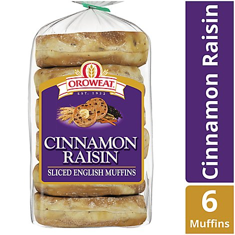 Oroweat English Muffins Raisin - 14 Oz