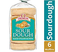 Oroweat English Muffins Sourdough - 12.5 Oz