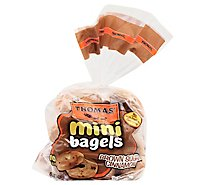 Thomas Bagels Mini Brown Sugar Cinnamon Pre Sliced 10 Count - 15 Oz