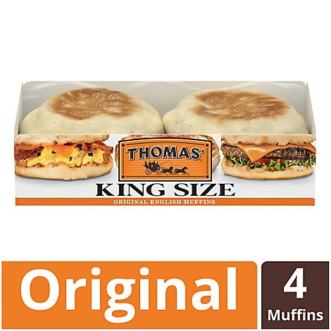 Thomas English Muffins Original Sandwich Size - 13 Oz