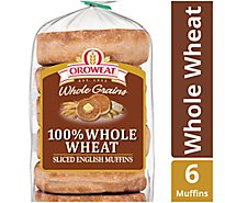 Oroweat Bread English Muffins Whole Wheat 6 Count - 13.75 Oz