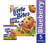 Entenmanns Little Bites Muffins Blueberry 5 Pouches - 20 Count