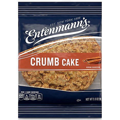 Entenmanns Crumb Cake Single Serve - 3 Oz