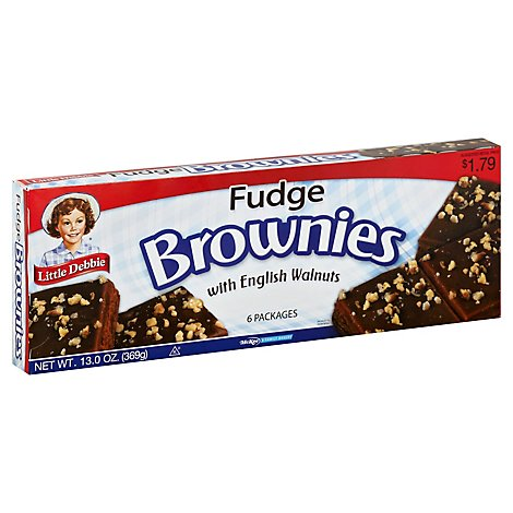Little Debbie Brownies Fudge with English Walnuts - 6 Count