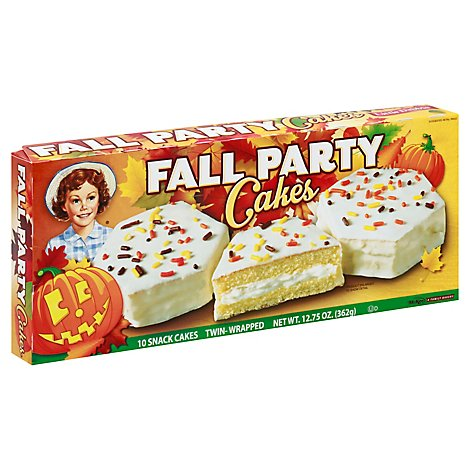 Little Debbie Cakes Snack Fall Party Vanilla - 12.5 Oz