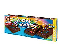 Little Debbie Brownies Cosmic with Chocolate Chip Candy Big Pack - 12 Count