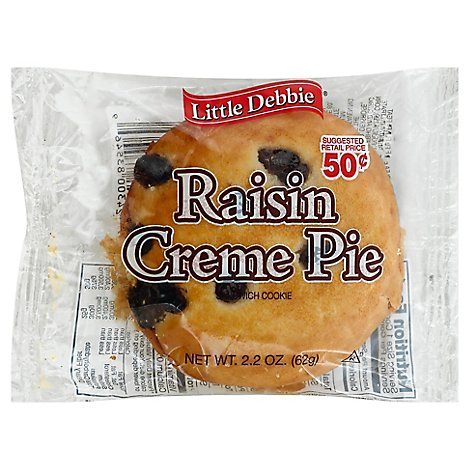 Little Debbie Cream Pie Raisin - 2.5 Oz