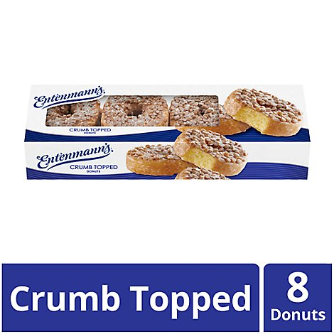 Entenmanns Donuts Crumb Topped - 8 Count