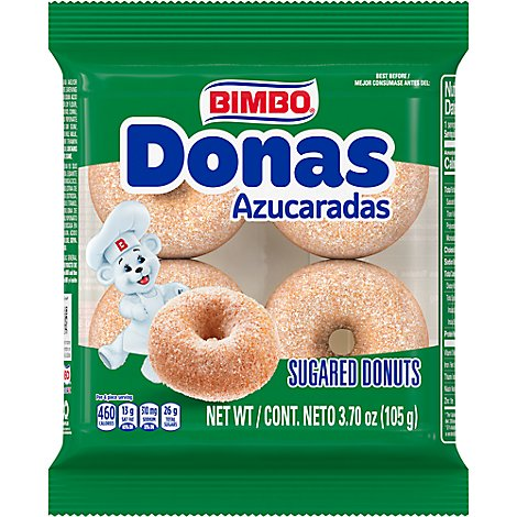 Bimbo Donas Sugared Donuts - 3.53 Oz