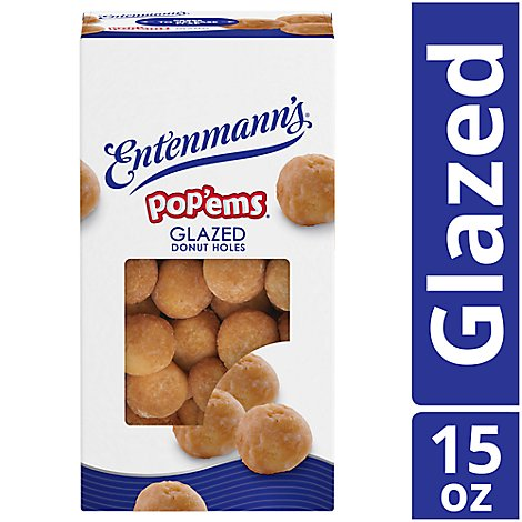 Entenmanns Popems Donut Holes Glazed - 15 Oz