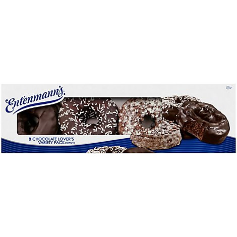Entenmanns Donuts Chocolate Lovers Variety Pack - 8 Count