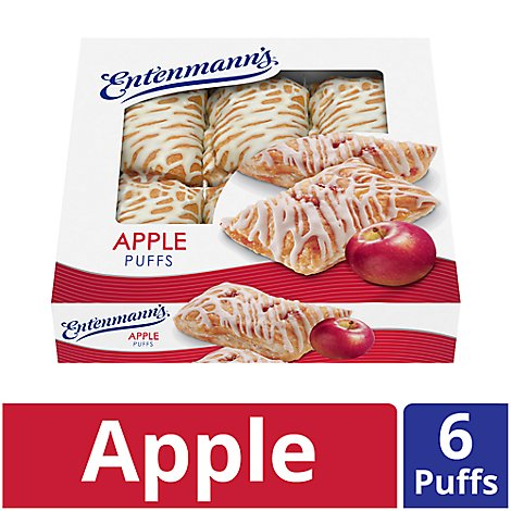 Entenmanns Puffs Apple - 18 Oz