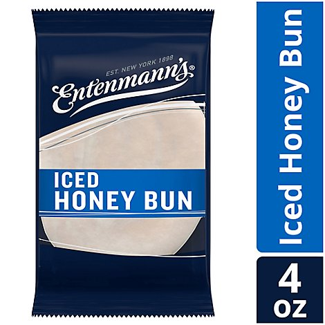 Entenmanns Honey Bun Iced Single Serve - 4 Oz