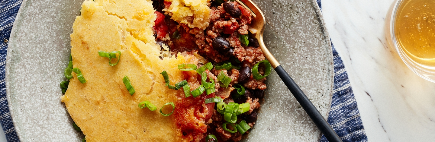 Tamale Pie with Cornbread Crust