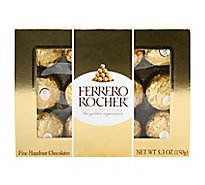 Ferrero Rocher Chocolate Truffles Hazelnut - 5.3 Oz