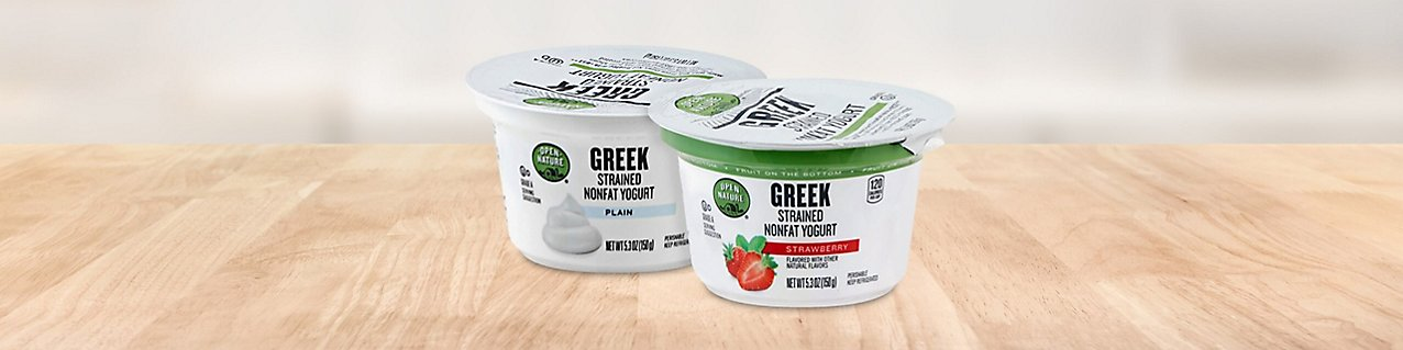 Open Nature yogurt product montage