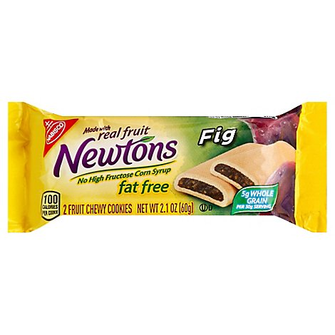 Newtons Cookies Fig Fruit Chewy Fat Free - 2.1 Oz