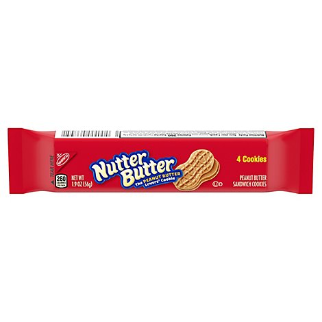 Nutter Butter Cookies Sandwich Peanut Butter - 4 Count