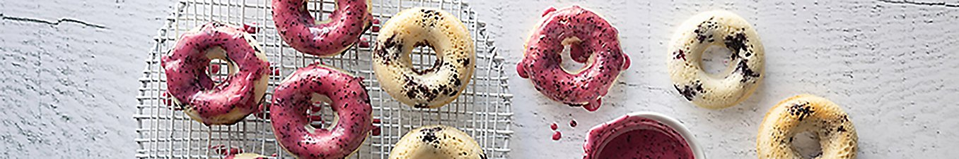 Gluten-Free Baked Blueberry Donuts