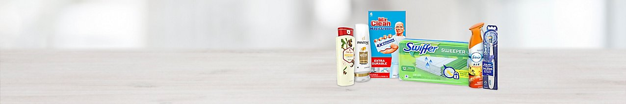 Choose from a wide selection of paper, cleaning, home and personal care products from Proctor & Gamble.