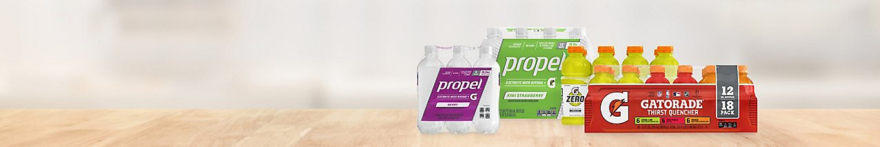 Hydrate and save with deals on packs of Propel Electrolyte Water in fruit flavors as well as Gatorade sports beverages.