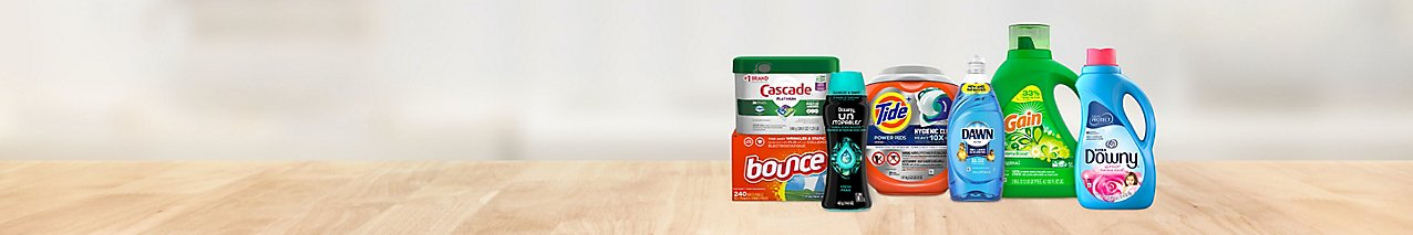 Clean up in savings with this deal on laundry and dishwasher detergents from Tide, Downy, Dawn, Cascade, and more.