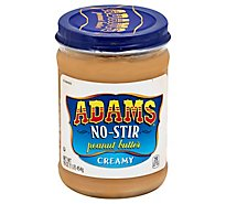 Adams Peanut Butter Creamy No-Stir - 16 Oz
