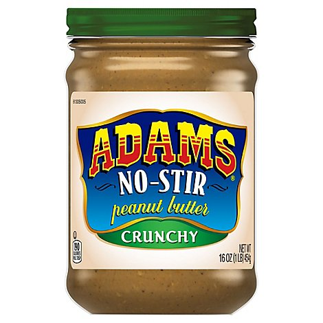 Adams Peanut Butter Crunchy No-Stir - 16 Oz