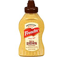 Frenchs Mustard Spicy Brown - 12 Oz