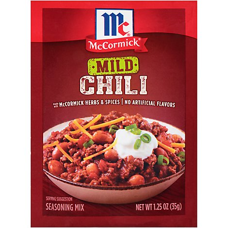 McCormick Seasoning Mix Chili Mild - 1.25 Oz