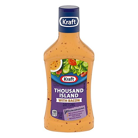 Kraft Dressing Thousand Island with Bacon - 16 Fl. Oz.