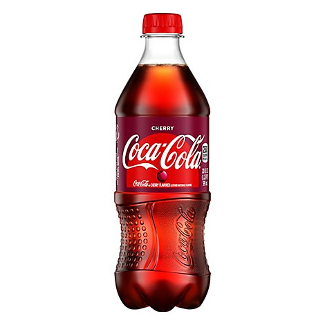 Coca-Cola Soda Pop Flavored Cherry - 20 Fl. Oz.