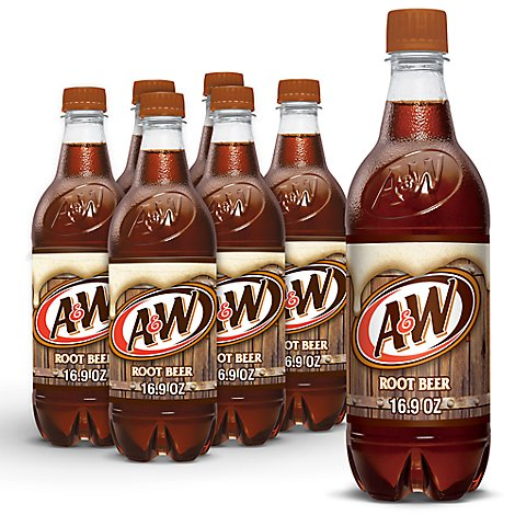 A&W Soda Root Beer - 6-0.5 Liter
