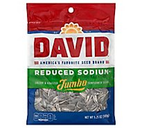 DAVID Sunflower Seeds Jumbo Roasted & Salted Reduced Sodium - 5.25 Oz
