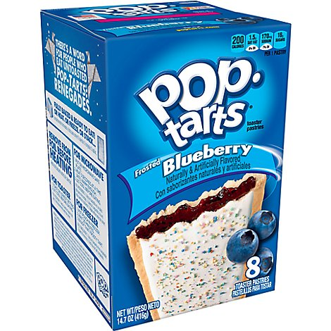 Pop-Tarts Toaster Pastries Frosted Blueberry 8 Count - 14.7 Oz