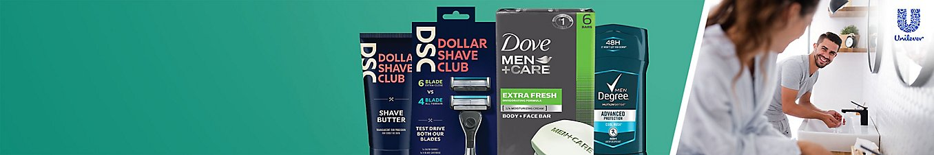 Unilever men's personal care products
