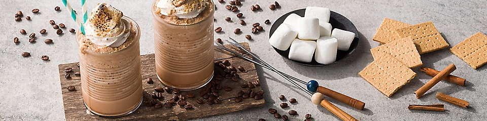 Smores blended iced coffee